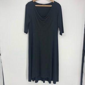 ✨Eileen Fisher Black Relax Fit Stretch Midi Dress
